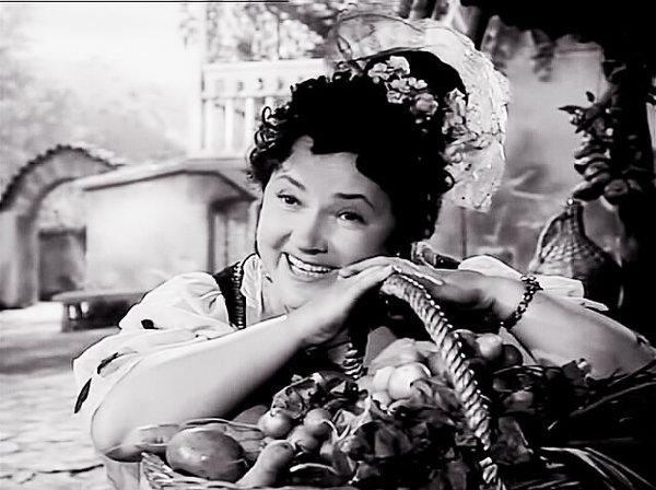 Ольга Викландт в роли Мирандолины, фильм-спектакль «Хозяйка гостиницы» (1956)