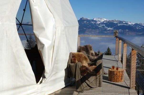 Горнолыжный курорт в стиле «иглу» в Швейцарских Альпах