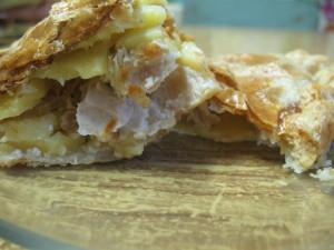 Слоеный пирог с картошкой и мясом