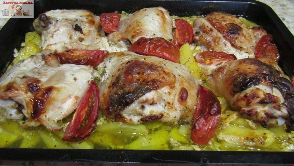Курица с картошкой в кефире