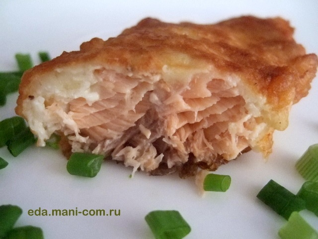 Горбуша рыба в кляре пошаговый рецепт с фото