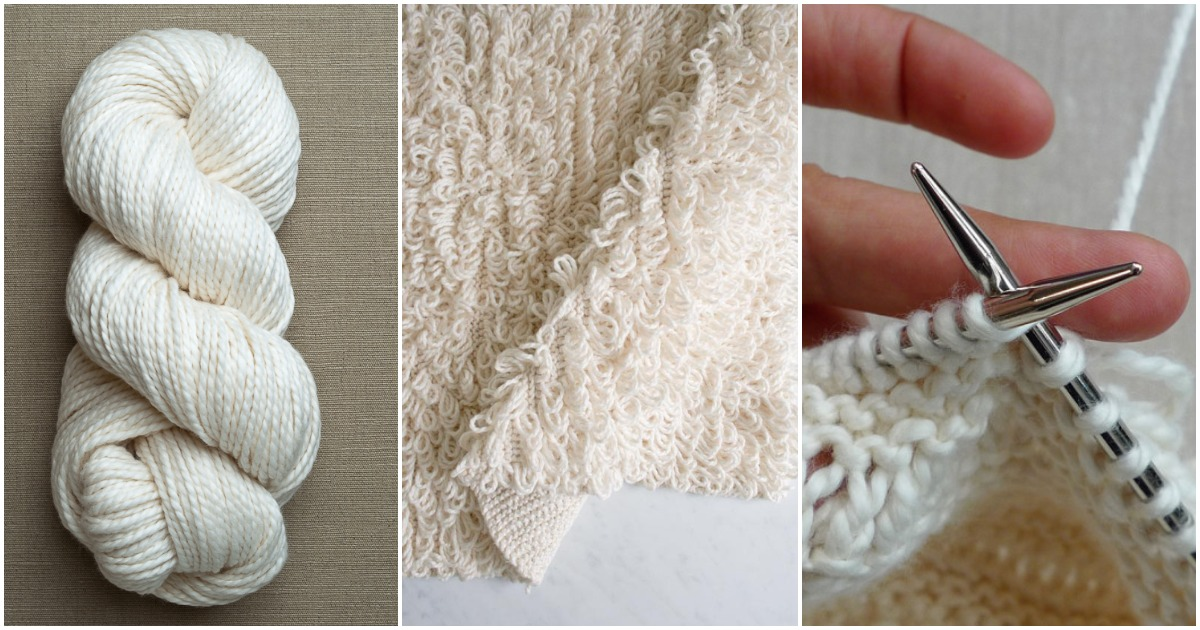 Махровое полотенце можно связать самостоятельно, вам понадобятся лишь нитки и спицы