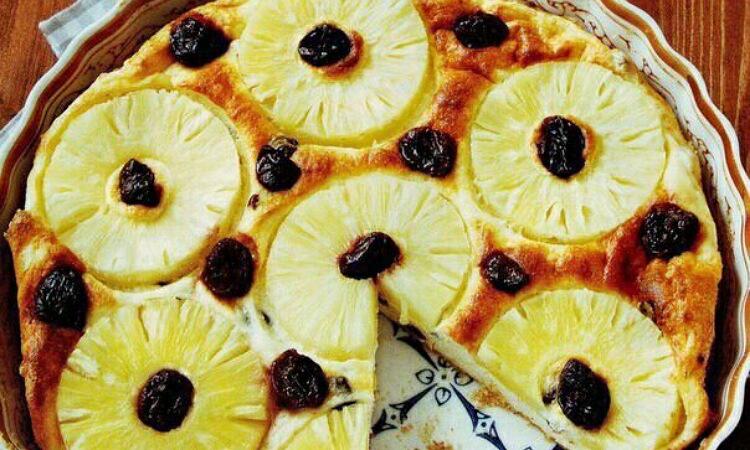 Бесподобная фруктово-творожная запеканка с ананасами