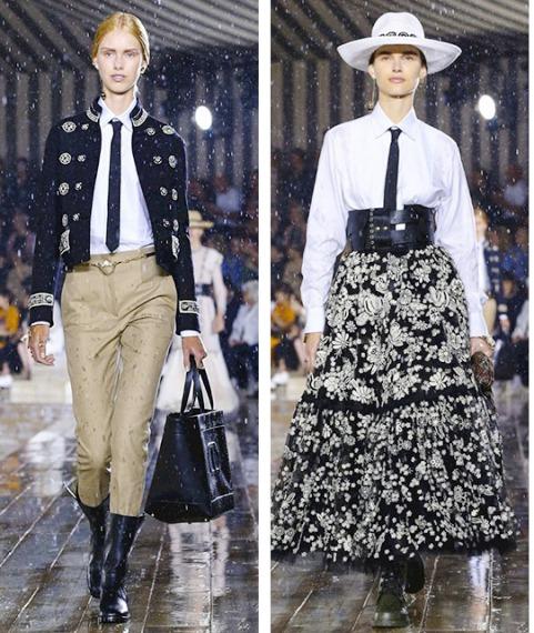 Круизная коллекция Dior 2019 — модное родео в богатой вышивке и кружевах
