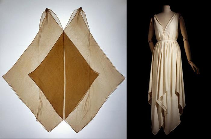 Экспериментальный крой платьев от Вионне.