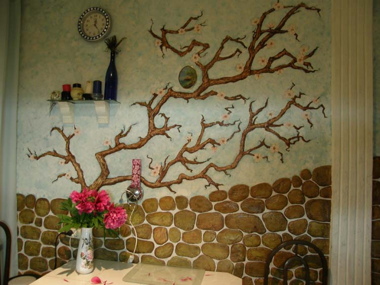Декорирование стен на кухне