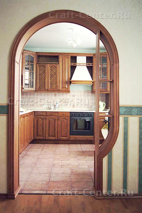 """Межкомнатная арка с полками """"Классика"""" для кухни фото-09"""