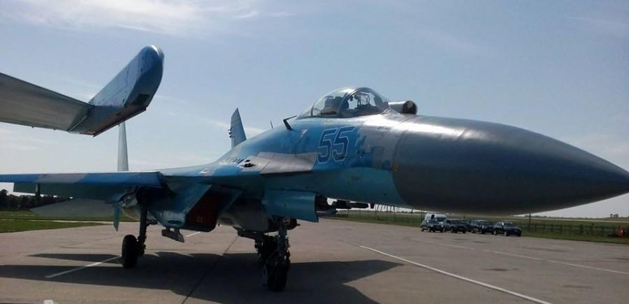 Разбившийся 30-летний Су-27 …