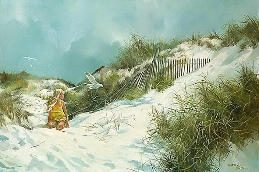 Берег детства... Американская художница Carolyn Blish
