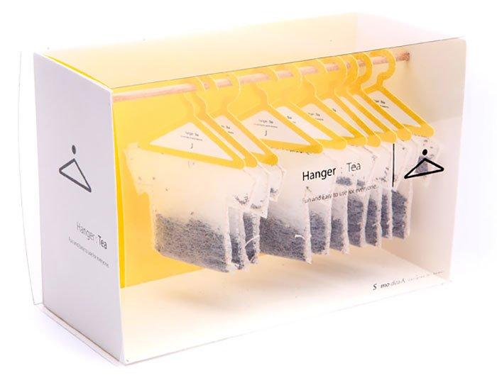 Чайные пакетики на вешалке