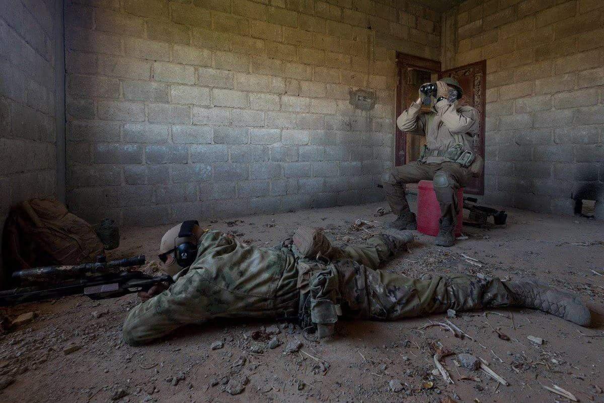 Российские снайперы в Восточной Гуте