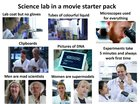 Science lab in a movie starter pack
