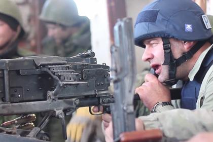 Ополченец рассказал о впечатлениях Пореченкова от стрельбы из пулемета
