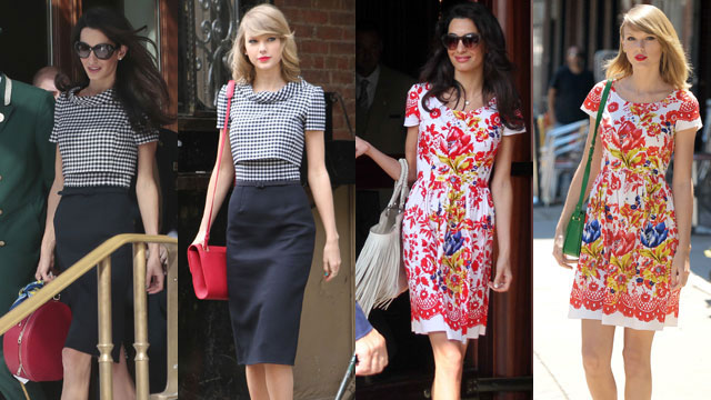 Taylor Swift and Amal Clooney Keep Wearing the Same Clothes