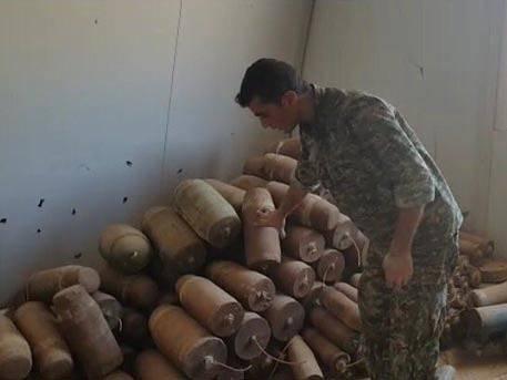 Схрон вооружения боевиков, обнаруженный в провинции Дераа, будет уничтожен