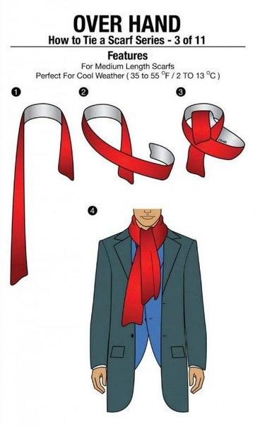 8 способов как красиво и оригинально завязать шарф.