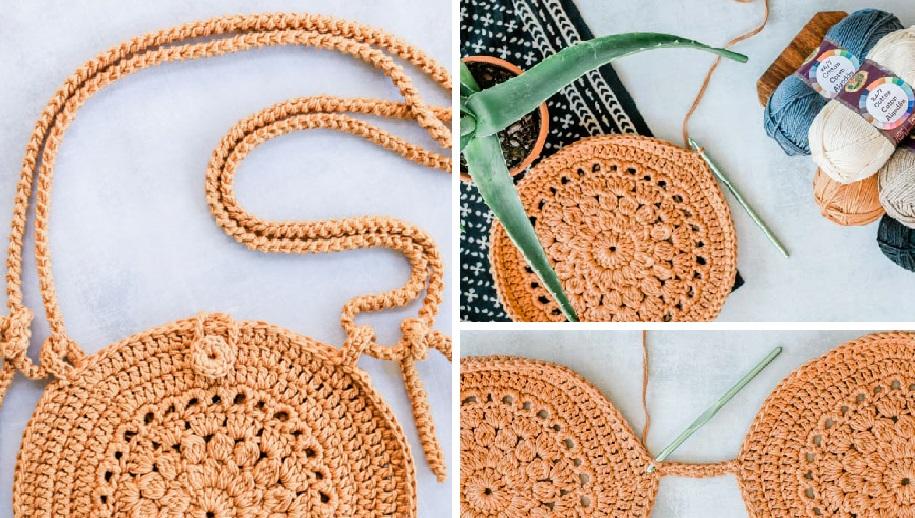 Необычную сумку в стиле «бохо» можно легко связать крючком