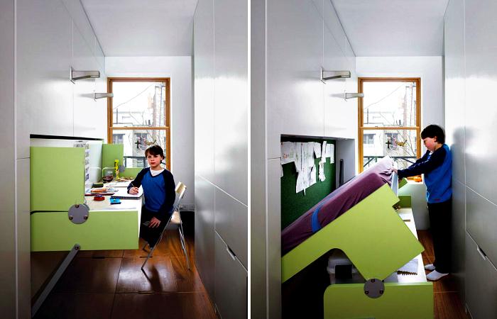 Современная трансформирующаяся мебель, которая выручит всех владельцев маленьких квартир.