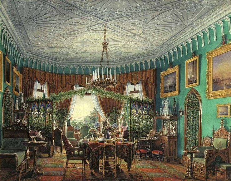 Дворцовые интерьеры в акварелях Эдуарда Петровича Гау
