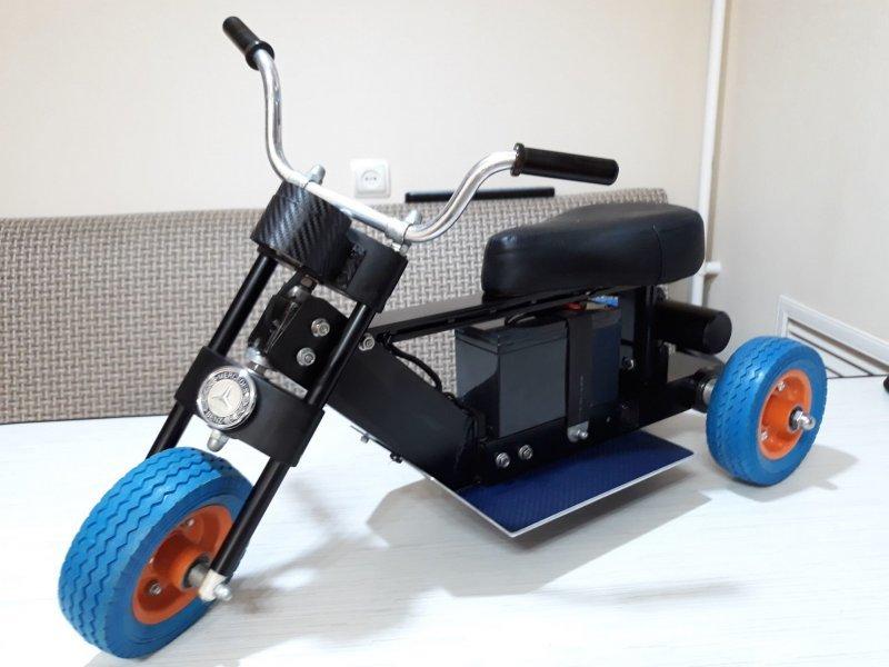 Электромотоцикл для двухлетнего ребенка своими руками