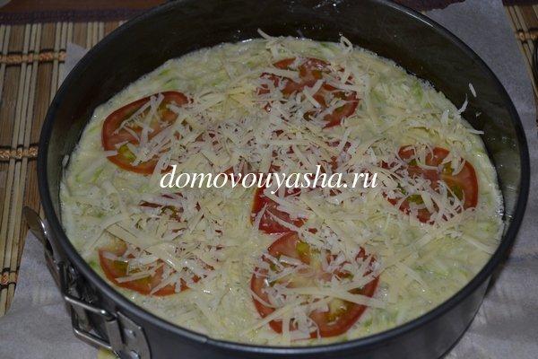 Запеканка из кабачков с помидорами и сыром в духовке