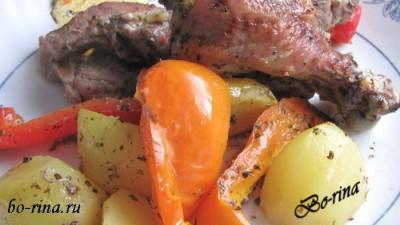 Курица с картофелем и болгарским перцем