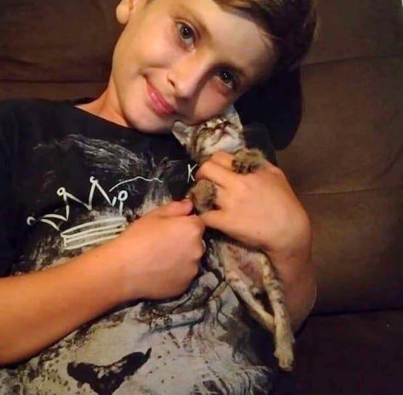 У котенка отказали задние лапки… И только девятилетний мальчик придумал, как ему помочь