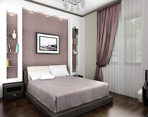 Ниша в спальне над кроватью своими руками