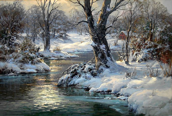 Американский художник Чарльз Викери