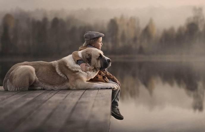 Нежные фото детей и животных…
