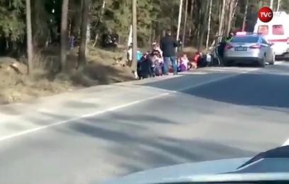 Автобус с 40 детьми попал в ДТП в Подмосковье