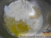 Фото приготовления рецепта: Овсяные оладьи для детей (на молоке) - шаг №5