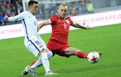 Сборная России по футболу сыграла вничью с Чили перед КК-2017