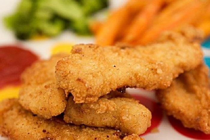 3 быстрых блюда на ужин, хрустящие  «Пальчики» из куриного филе