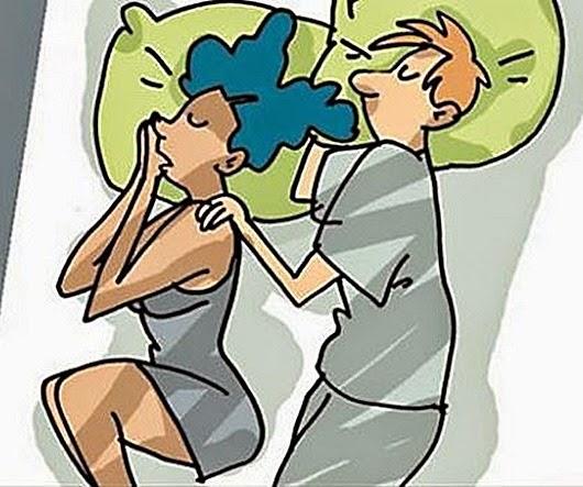 Позы во время сна вдвоем. Ночной диалог тел | 443x530