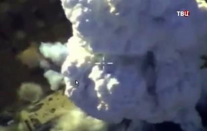Появилось видео удара ВКС по террористам в Идлибе