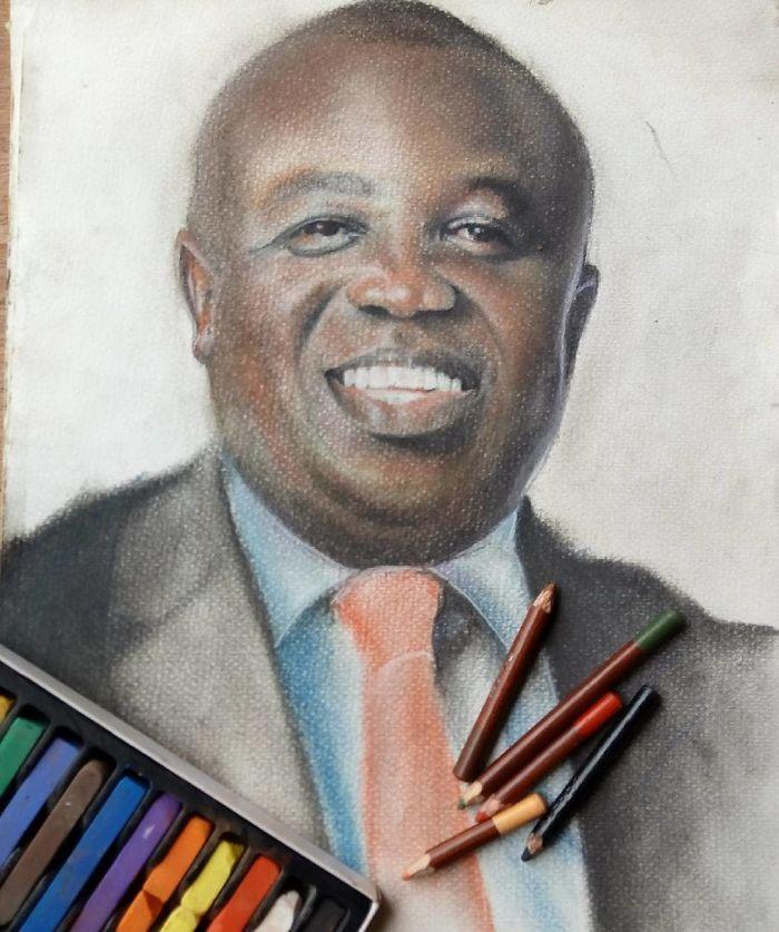 11-летний мальчик из Нигерии создает нереально реалистичные портреты