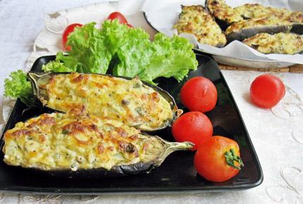 Кучерикас - баклажаны, запеченные с сыром