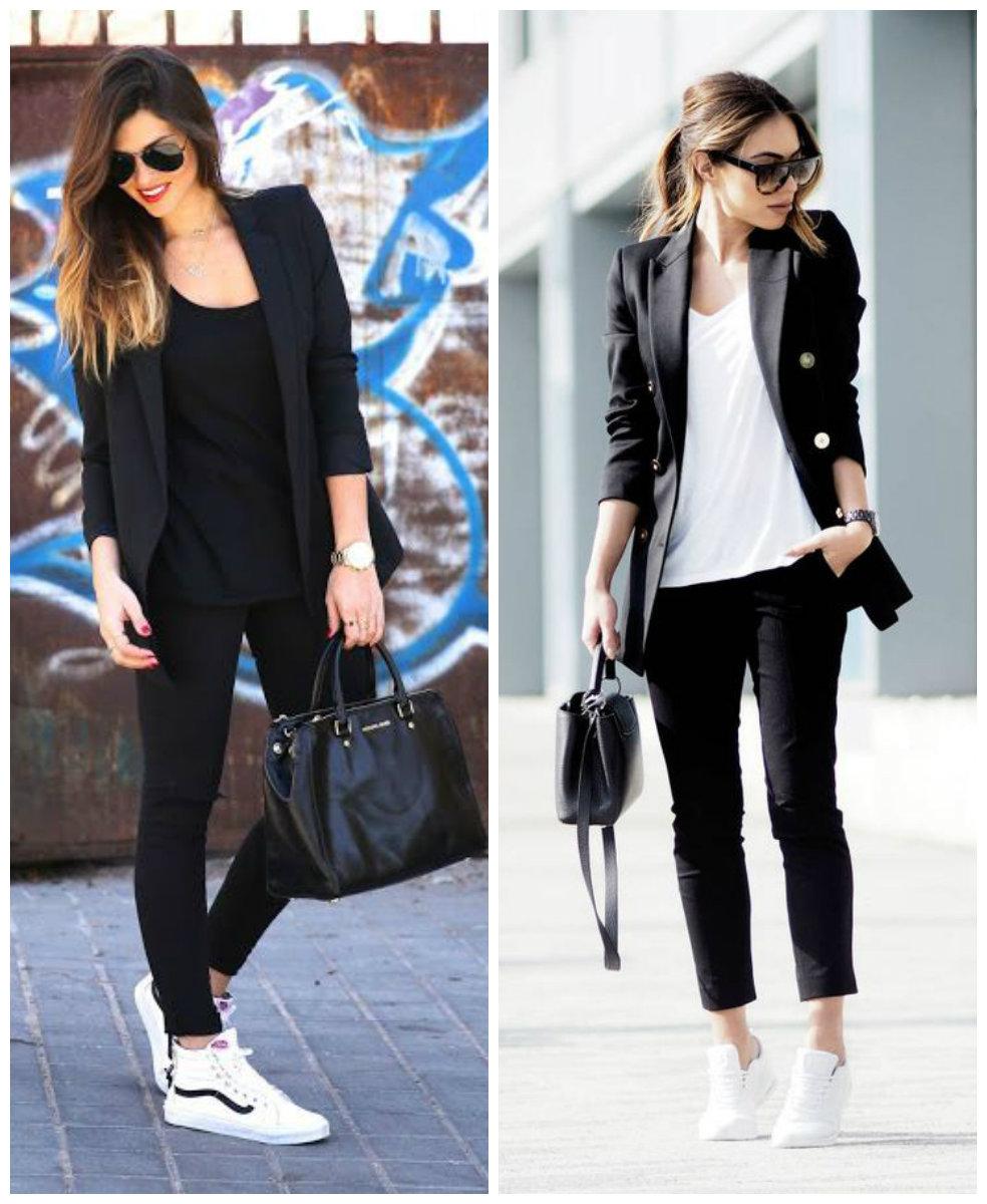 кроссовки и пиджак