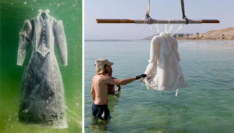 Как черное платье превратилось в соленую скульптуру на дне моря