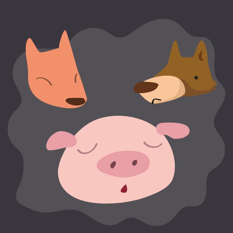 Анекдот про хитрую свинью, которая оказалась вяме слисой иволком