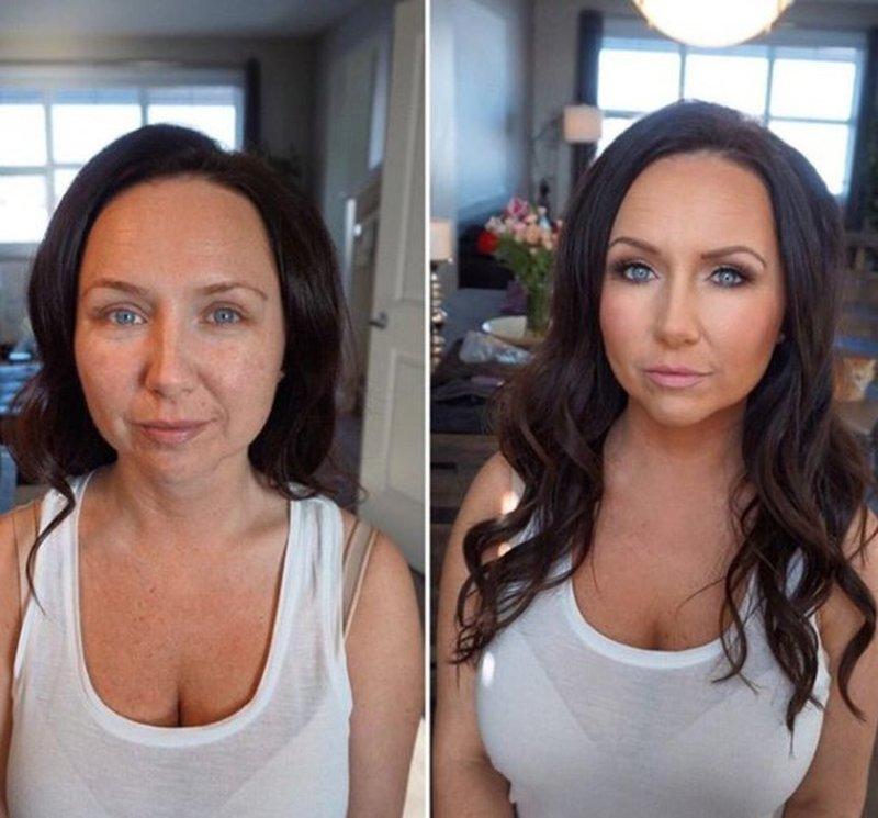 А вот женщина хранит интригу до последнего девушки, до и после, макияж, мужчины и женщины, отношения
