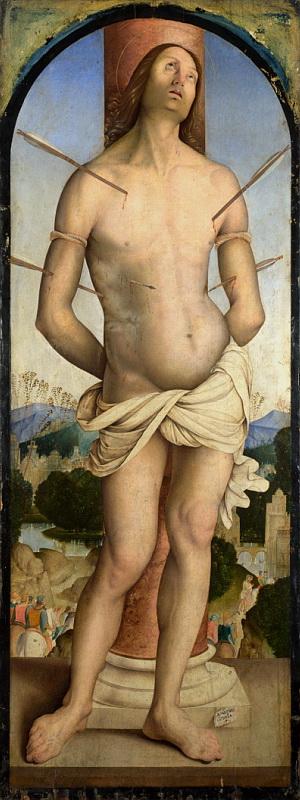 Bernardino Zaganelli - Saint Sebastian. Национальная галерея, Часть 1