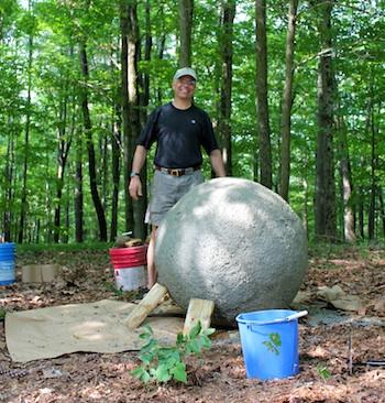 Как сделать большой шар из бетона своими руками 96