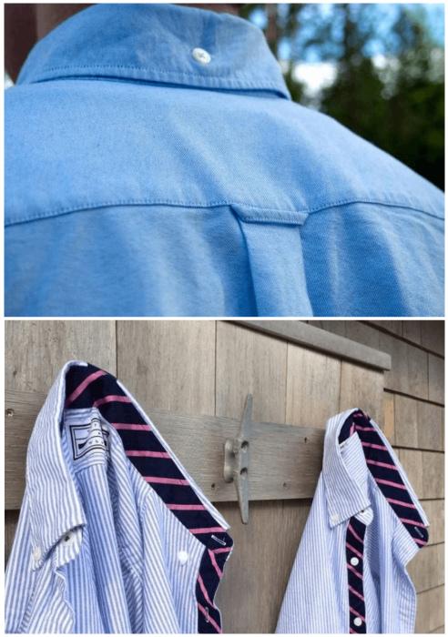 Петелька сзади рубашки.