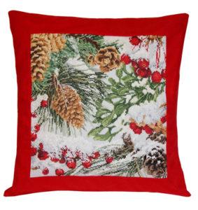 Вышивка «Подушка с шишками»