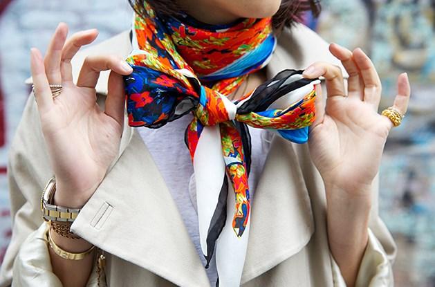 Способы завязать шарф, платок, палантин. Тренды 2018