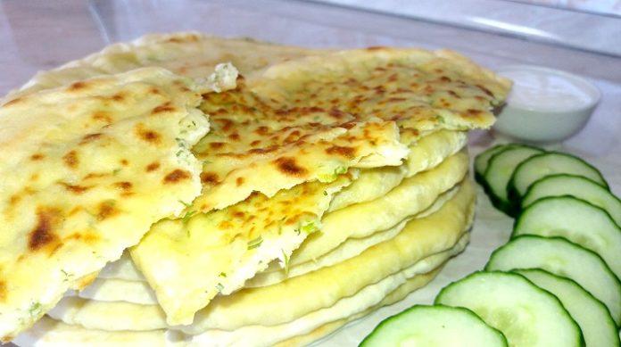 Самые лучшие лепешки с сыром и зеленью