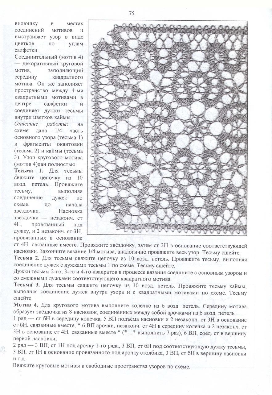Уроки вязания  кружев. Урок 14