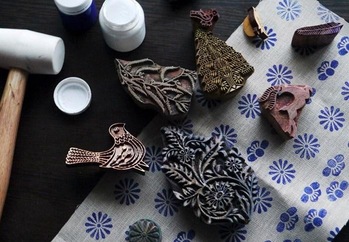 ручная набойка ткани
